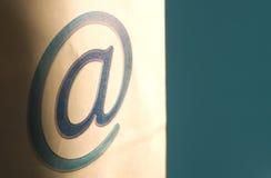 Transmission d'email - @ Photo libre de droits