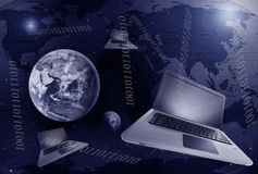 Transmission de Digitals sur terre photos libres de droits