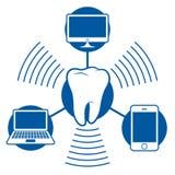 Transmission de graphisme de Bluetooth avec l'ordinateur pas illustration stock