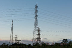 Transmission de l'électricité Photos libres de droits