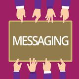 Transmission de messages d'écriture des textes d'écriture Communication de signification de concept avec d'autres par la causerie illustration libre de droits