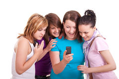 Transmission de messages d'adolescentes Image libre de droits