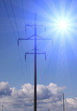 Transmission of electricity Stock Photography