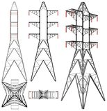 Transmission Electricity Tower Illustration Vector Royalty Free Stock Photography