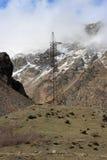 Transmission equipment on Georgian Military Road Stock Image