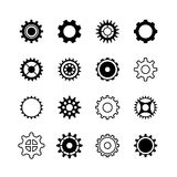 Transmission gear wheel, engine gearshift vector icons set Royalty Free Stock Photo