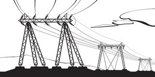 Transmission of high voltage Stock Photos