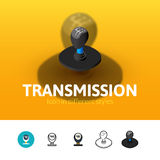 Transmission icon in different style Stock Image