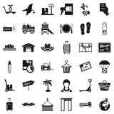 Transmission icons set, simple style. Transmission icons set. Simple set of 36 transmission vector icons for web isolated on white background Royalty Free Stock Images