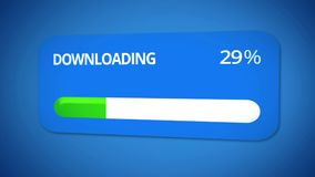 Transmission of information, status bar shows download process, slow internet. Stock footage Royalty Free Stock Image