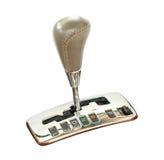 Transmission lever. Automatic transmission lever isolated on white background Stock Image
