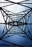 Transmission Line 1. A 275KV transmission line from below royalty free stock images