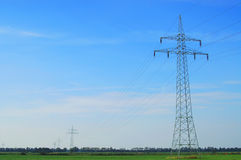 Transmission line. A transmission line in germany royalty free stock image