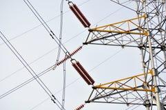 Transmission line. Isolated on white background stock photo