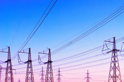 Transmission line. Royalty Free Stock Images