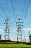 Transmission line Royalty Free Stock Photo