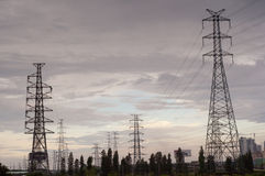 Transmission line Royalty Free Stock Photos