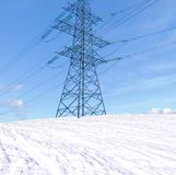 Transmission line support Royalty Free Stock Photos