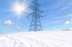 Transmission line support Stock Image