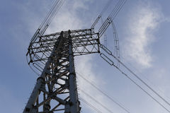 Transmission line tower Stock Images