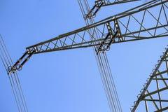 Transmission line. On background of blue sky Royalty Free Stock Image
