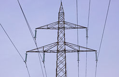 Transmission lines Royalty Free Stock Images