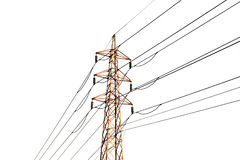 Transmission lines Royalty Free Stock Photos