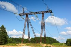 Transmission lines Stock Photo