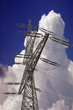 Transmission lines tower Stock Photos