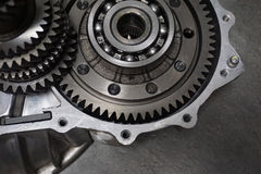 Transmission. metal gears. Royalty Free Stock Photos