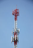 Transmission pole mobile. Royalty Free Stock Photos