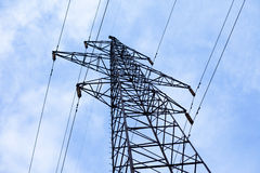 Transmission power line Royalty Free Stock Images