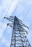 Transmission power line Stock Photo