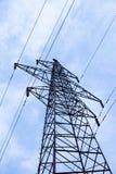 Transmission power line. On sky background stock photo