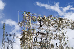 Transmission power line Royalty Free Stock Photography