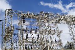 Transmission power line Stock Photo