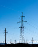 Transmission power towers Royalty Free Stock Photography
