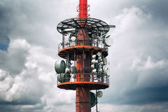 Transmission radio / tele tower Royalty Free Stock Photos