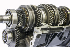Transmission shaft gear Stock Photos