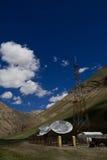 Transmission station in Zanskar. A television transmission station in Zanskar royalty free stock image