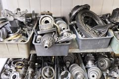 Transmission steel gear boxes Stock Photography