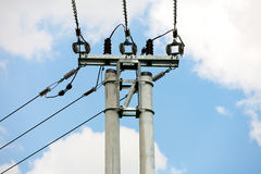 Transmission tower. Top of the transmission tower Stock Images