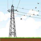 Transmission Tower. Illustration of a transmission tower royalty free illustration