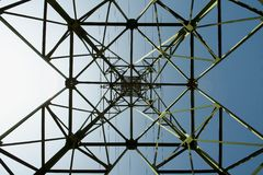Transmission tower stock image