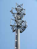 Transmission tower. Element of infrastructure - transmission tower - blue sky stock image