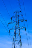 Transmission Tower. Power transmission tower carrying electricity from different parts of country Stock Images