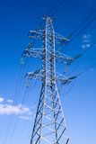 Transmission Tower. Power transmission tower carrying electricity from different parts of country Royalty Free Stock Photography
