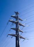 Transmission Tower. Power transmission tower carrying electricity from different parts of country Royalty Free Stock Photo