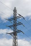 Transmission Tower. Power transmission tower carrying electricity from different parts of country Stock Image