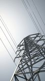 Transmission tower against blue Royalty Free Stock Photos